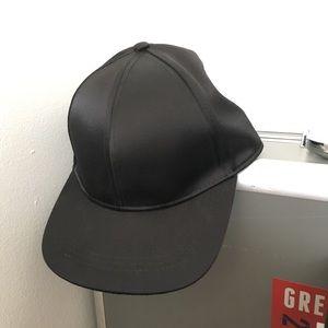 H&M Black satin baseball cap